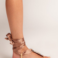ASOS FOXY Flat Sandals with Ribbon Tie