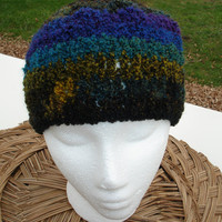 Slouchy Beanie for Men Hand Crocheted Random Shade by toppytoppy
