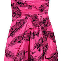 Juicy Couture Flock-print silk-satin dress - 50% Off Now at THE OUTNET