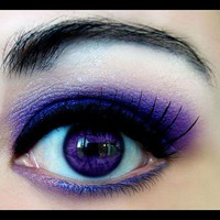 The perfect make up !!! (amazing purples)