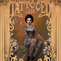The Amazing Tattooed Lady Art Print by Rudy Faber | Society6