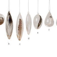 Floating Feather Ornaments Set of 7
