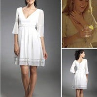 Chiffon A-line V-neck Short/ Mini Cocktail Dress inspired by Serena in Gossip Girl co1207 - Celebrity Dresses - Apparel