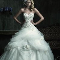 Sweetheart Beaded Ball Gown With 3D Flower C186 - Wedding Dresses - Apparel