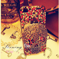 Stylish Skull Rhinestone IPhone 4/4.. on Luulla