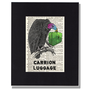 Carrion Luggage Vulture with suitcase vintage dictionary art print Animal pun Upcycled Artwork