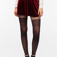 Pins and Needles Velvet Mini Circle Skirt