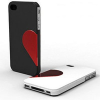 2 PCS Sweet Heart iPhone Case for iPhone 4