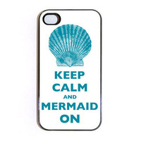 Keep Calm And Mermaid On iPhone 4 case  Choose by keepcalmstore