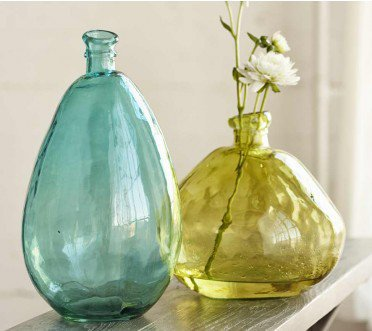 Aqua and Citrine Balloon Vases - VivaTerra