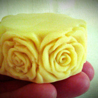 Organic Honey Cocoa Lotion Massage Bar, Beeswax Cocoa Butter, Hypoallergenic, Floral Pattern