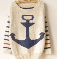 Vintage Anchor Stripes Style Sweate.. on Luulla