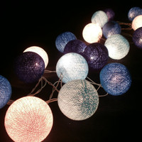Blue Set tone mixed Hanging stringlights for by StringLightShop