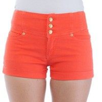 Amazon.com: Curve Appeal Juniors High Waisted 5 Pocket Stretch Cotton Short Shorts: Clothing