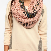 Urban Outfitters - Pins and Needles Floral Crochet Eternity Scarf
