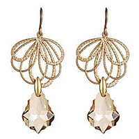 Alvina Abramova Beige Crystal-Drop Reese Earrings - Max and Chloe