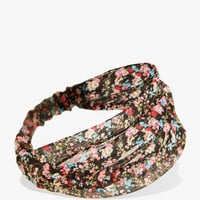 Metallic Floral Headwrap