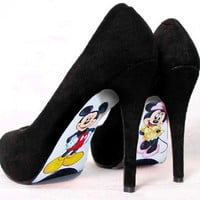 Custom hand painted Mickey Mouse and Minnie Mouse by AshtonAtelier