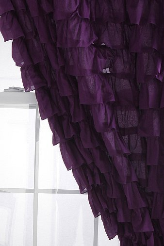 Waterfall ruffle curtain from urban outfitters for Urban waterfall design
