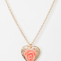 Urban Outfitters - Hearts & Flowers Necklace