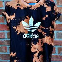 Cryptic Cult — tie bleach ADIDAS originals trefoil t shirt