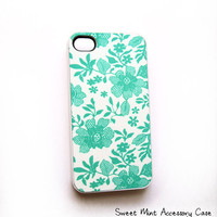SALE Cell Phone Accessory Case for iPhone 4 and 4S model - Sweet Mint Original Artwork