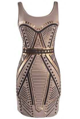 Print Bodycon Dress - 29 and Under