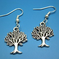 Tree Of Life Earrings szeya designs retro vintage style by Szeya
