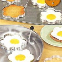 Amazon.com: STAINLESS STEEL FLOWER SHAPED EGG/PANCAKE SHAPERS - SET OF 4 (TAKE THE BORING OUT OF BREAKFAST!): Kitchen &amp; Dining