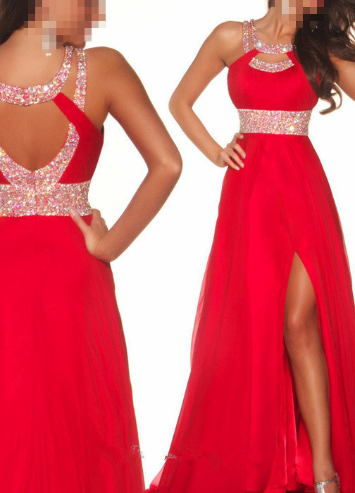 New Sexy Red Beaded Prom DressFormal from ican518 on eBay