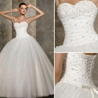 New White Wedding Dress Bridal Gown Stock Size 6-8-10-12--14-16