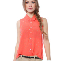 Papaya Clothing Online :: BEADS TRIM BUTTON DOWN BLOUSE