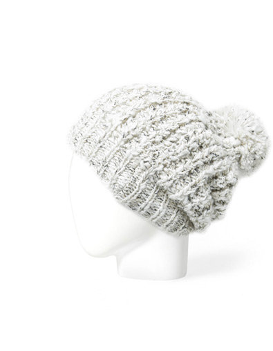 METALLIC KNIT BEANIE WITH POMPOM - Accessories - Accessories - Woman - ZARA United States