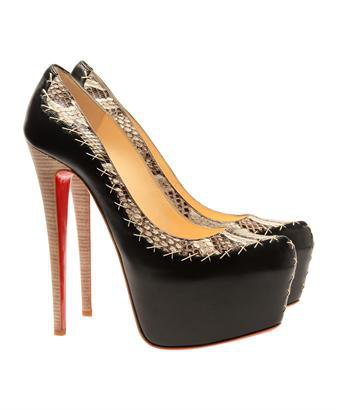 Browns fashion & designer clothes & clothing | CHRISTIAN LOUBOUTIN | ?Dafreak? python and leather platform pumps