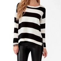 Button Back Striped Sweater | FOREVER 21 - 2031556731