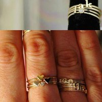 catbird :: shop by category :: Jewelry :: Wedding & Engagement Rings :: Non-traditional :: Alphabet Rings - Silver