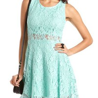 Zip-Back Lace A-Line Dress: Charlotte Russe