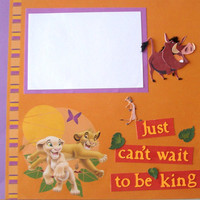Premade Scrapbook Pages  The Lion King by StrictlyCute on Etsy