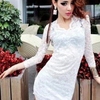 HEGO Crochet  Wave Lace Dress Z1822