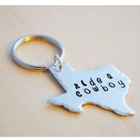 Ride a Cowboy - Texas Keychain - Customized Keyring - Texas Cowboy - Cowgirl Keychain - Ride a Cowgirl