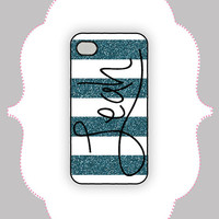 iPhone Case-- Glitter Stripe Monogram iPhone Case- iPhone Case,Monogram Case, Personalized iPhone Case