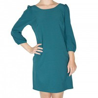 Teal Shift Dress - Dresses