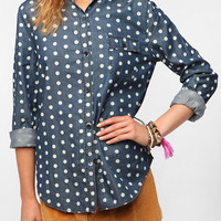 Urban Outfitters - BDG Polka Dot Button-Down Denim Shirt