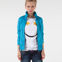 Bershka Jordan - BSK nylon jacket with star print lining