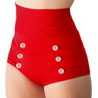 Skipper Super High Waisted Red Sailor Bikini by FablesbyBarrie