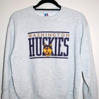 BeWorn — Grey Washington Huskies College Jumper