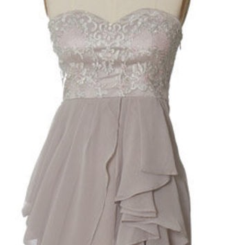 Trendy and Cute dresses - Minuet - Chiffon Tier Dress