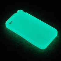Purple Luminous Glow In The Dark Soft Gel Case For Iphone4 4G 4s Party Club +SP