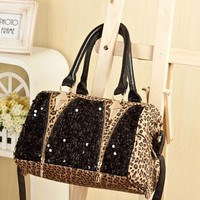 Cool Leopard Shiny Sparking Handbag.. on Luulla