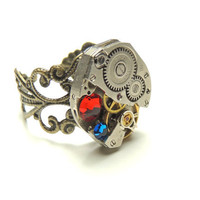 steampunk watch movement ring adjustablevictorian rings por keoops8